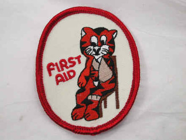 First Aid Tiger Embroidered Sew On Patch