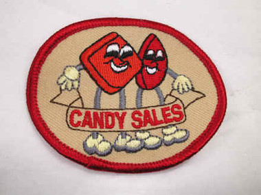 Candy Sales Sew On Applique Patch