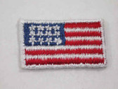 US American Flag Embroidered Iron On Patch .88 Inch