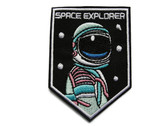 Space Explorer Embroidered Iron On Patch Applique Badge 3.5 Inches