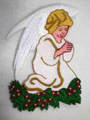 Praying Angel Embroidered Iron On Patch Sweet 3.5