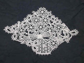 White Venise Venice Lace Basket Sew On Patch 5.25