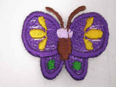 Purple Yellow Blue Butterfly Iron On Patch 1.38