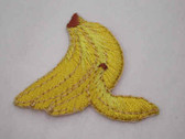 Banana Bunch Embroidered Iron On Patch 1.5 In