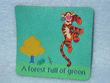 Disney Dancing Tigger Forest Green Sew On Patch