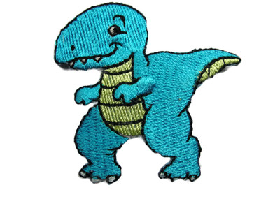 Tyrannosaurus Rex T-Rex Dinosaur Cartoon Embroidered Iron On Patch 2.13 Inches