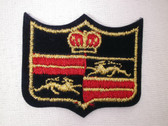 Crown Lions Red Heralidc Bars Crest Iron On Patch