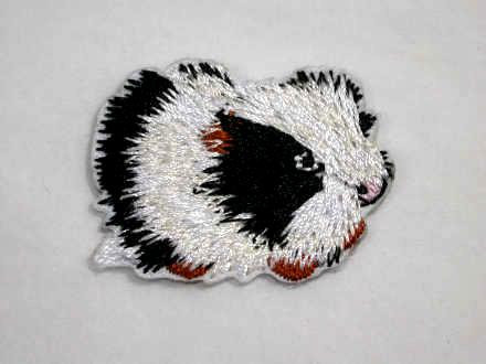 Guinea Pig Embroidered Iron On Patch
