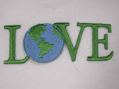 Love w Earth Ecology Embroidered Iron On Patch