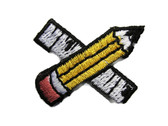 Pencil Ruler School Drafting Combo Embroidered Iron On Patch Applique