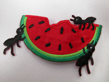 Picnic Ants w Watermelon Iron On Patch