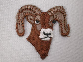 Big Horn Ram Head Head Sew On 1.5 Inch Applique Patch