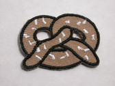 Pretzel Embroidered Iron On Patch 1.5 In
