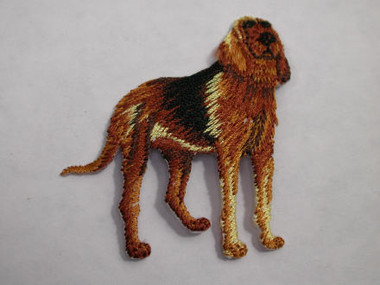 Hound Dog Standing Embroidered Iron On Patch