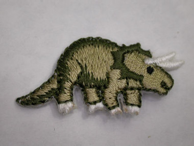 Triceratops Baby Infant Embroidered Iron On Patch