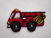 Fire Truck Engine Infant Iron On Applique Patch 1 In