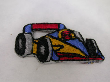 Formula One Race Car Infant Iron On Patch 1 In