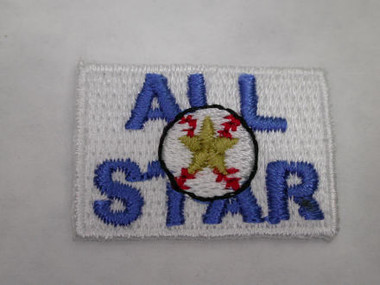 Baseball All Star Iron On Patch Applique 1.25 In