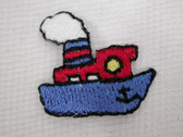 Tug Boat Infants Iron On Patch .88 In