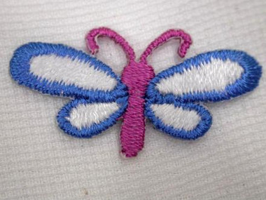 Pink Blue Dragonfly Infant Iron On Patch 1.25 In