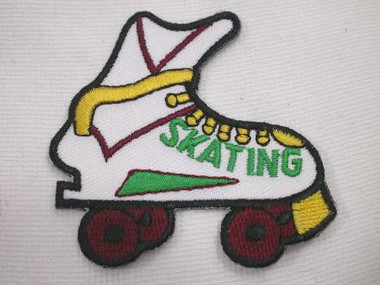 Roller Skate Embroidered Iron On Patch
