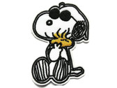 Snoopy Beagle Holding Tweety Embroidered Iron On Patch Applique 2.75 Inch