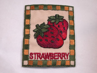 Country Strawberry Embroidered Iron On Patch