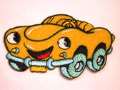 Yellow Cartoon Car Embroidered Iron On Patch