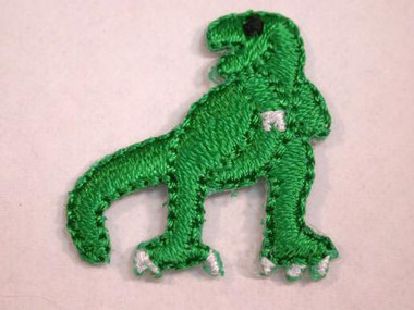 Green T-Rex Dinosaur Baby Embroidered Iron On Patch