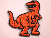 Orange T-Rex Dinosaur Baby Embroidered Iron On Patch