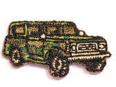 Camo Military Jeep Child Iron On Patch 1.25 In
