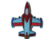 Fighter Jet Plane Felted Embroidered Iron On Patch Applique (