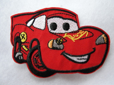Red Cartoon Race Car Embroidered Iron On Patch