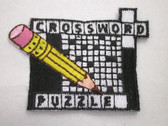 Crossword Puzzler Embroidered Iron On Patch Applique