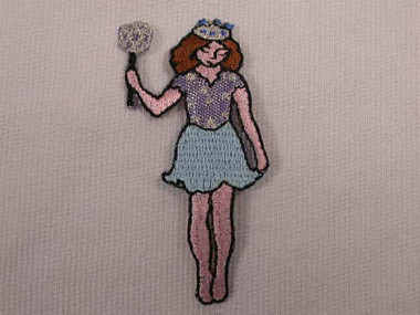 Fairy Princess Embroidered Iron On Patch Applique