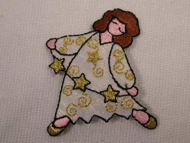 Fairy with Stars Embroidered Iron On Applique Patch
