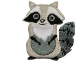 Grey Raccoon Large Eyes Iron On Patch Applique 2.5 Inches