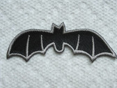 Black Halloween Bat Embroidered Iron On Patch 2.75 Inch