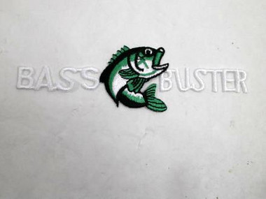 Game Fish Bass Buster Iron On Patch Applique