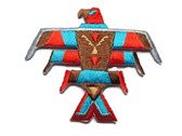 Native American Thunderbird Totem Iron On Patch 2.5 Inches
