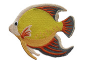 Yellow Orange Tropical Fish Large Embroidered Iron On Patch Applique