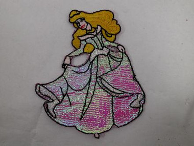 Blonde Princess Embroidered Iron On Applique Patch 3 In