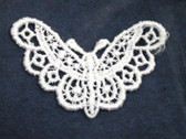 White Butterfly Sew On Venise Lace Applique 1.75 Inch