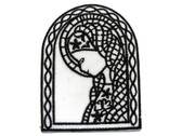 Virgin Mary Church Window Christian Embroidered Iron On Patch Applique 3 Inch