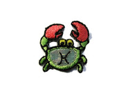 Lustrous Comical Crab Iron On Patch .75 In
