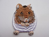 Hamster Syrian Teddy Bear Iron On Applique Patch 1.75 Inches