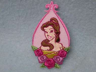Disney Princess Belle Cameo Iron On Patch Applique