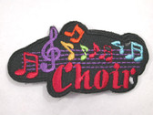 Choir Legend w Music Notes Iron On Patch