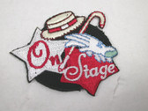 On Stage Vaudeville Hat Cane Embroidered Iron On Patch