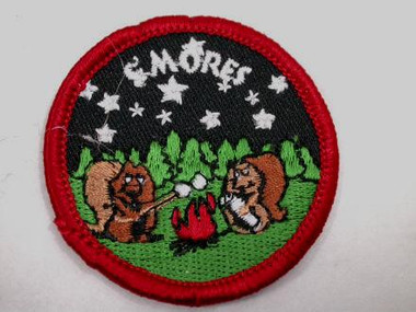 Marshmallow SMores Campfire Sew On Patch Applique